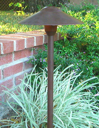 Low Voltage Landscape Light Mushroom - BPL301-Rust