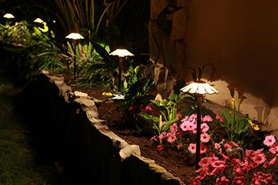 Tiffany Glass Flower Lights